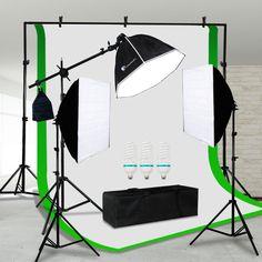 Photo Studio 3 Softbox Photography Light Stand Continuous Lighting Kit NEW https://qdiz.com/?p=2868