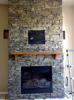 Eldorado Stone Veneer For Fireplace Color Chapel Hill Tile Around