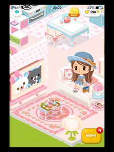 #LinePlay #App #Game #Muriomu La mia prima casetta. Soggiorno