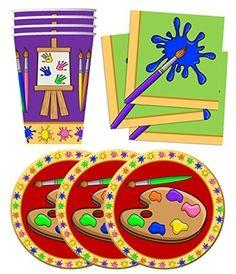 Artist Painting Birthday Party Supplies Set Plates Napkin... https://www.amazon.com/dp/B017WMCX6M/ref=cm_sw_r_pi_dp_x_3Dq-xbG443A7W