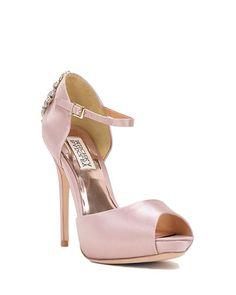 Gene Peep Toe Ankle Strap Evening Shoe by Badgley Mischka
