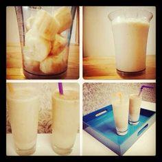 Banana Shake #recipe. Great way to stay cool!