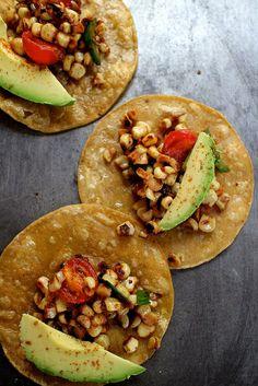 charred corn tacos