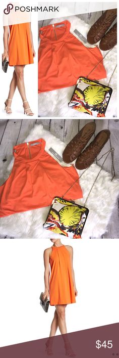 """Tart Orange Zip Back Dress Zip back dress, built in bra, flowy design perfect for spring! NWT  Make an offer! I will either accept or counter with my best!   Free shipping on $50+ purchases! Must bundle for discount. Cannot be applied to """"offers"""" 😞 Tart Dresses Mini"""