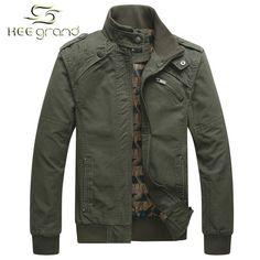 Men's Fashion Casual Cotton Stand Collar Spring Autumn Jacket