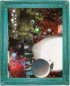 Universe Collage Upcycled Eco Art  Mixed Media Print by dproject
