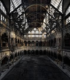 Beautiful urban decay by Vincent J. Stoker #Victorian #Steampunk #Architecture