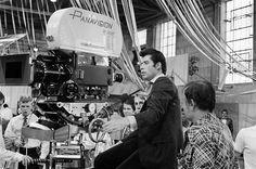 John Travolta en el set de Grease