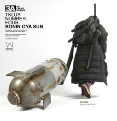 I can fit my life in a bomb, that kinda sums it all up.  TKLUB #4 Ronin Oya Sun is coming to Bambalandstore on October 18th, 9:00AM Hong Kong time.  Packaged in oldschool whitebox with sticker illustrated by Ashley Wood.  First of four TKLUB figures towards a classic TQ 1/6th scale figure.  TKLUB releases are for 3AA members only.  #threeA #TKLUB #Popbot #3AA #toyphotography #collectible #toyplanet