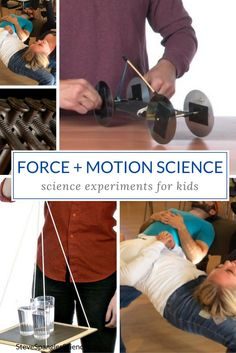 Learn all about the Laws of Motion and Bernoulli's Principle and have fun while you experiment! Physics Projects, Science Fair Projects, Science Experiments Kids, Science Lessons, Science Activities, Science Ideas, Kid Science, Earth Science, Stem Projects