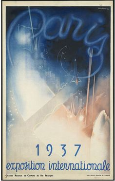 Vintage international exposition, Paris 1937,   travel posters  of the Boston Public Library