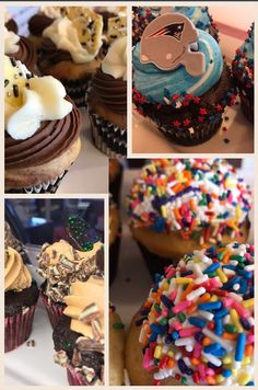#cupcakes #patriots #sprinkles #chocolate #buttercream