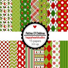 Digital Scrapbook PatchesForChristmas-INSTANT by azredhead