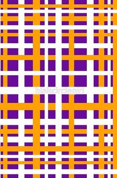 Purple & Orange Interlocking Stripes