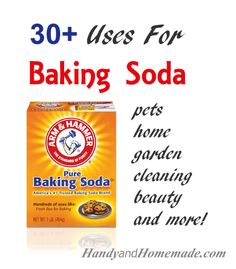 30 Amazing Uses For Baking Soda. Cleaning, Skin, Hair, Garden and More! Household Cleaning Tips, Household Cleaners, Cleaning Hacks, Household Products, Cleaners Homemade, Diy Cleaners, Limpieza Natural, Baking Soda Uses, Natural Cleaners