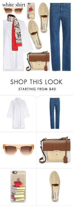 """""""Wardrobe Staples: The White Shirt"""" by paculi ❤ liked on Polyvore featuring Salvatore Ferragamo, Casetify, Manebí, whiteshirt and WardrobeStaples"""