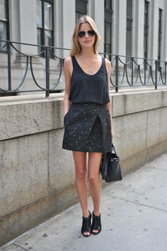 New York Fashion Week...in head-to-toe black.