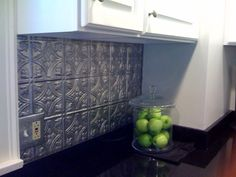 Want:Tin tile blacksplash for the kitchen.