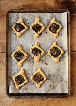 Kale Tarts with fennel & olives
