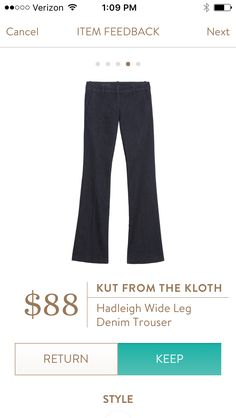 Kut From The Kloth KFTK Hadleigh Wide Leg Trouser I love Stitch Fix! Personalized styling service and it's amazing!! Fill out a style profile with sizing and preferences. Then your very own stylist selects 5 pieces to send to you to try out at home. Keep what you love and return what you don't. Try it out using the link! #stitchfix @stitchfix https://www.stitchfix.com/referral/5634870