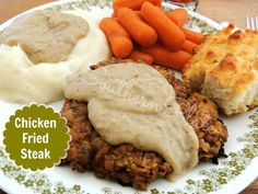 Chicken Fried Steak is a time honored recipe that comes together so fast that I can serve it for supper on the busiest of days! Breaded Steak, Chicken Fried Steak, Steak Recipes, Chicken Recipes, Cooking Recipes, What's Cooking, Easy Recipes, Country Fried Chicken, Salisbury Steak