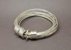 9 strand multi silver bangle  www.jonathandeer.co.uk