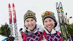 Emil Jönsson and Teodor Peterson - Bronze medalists! Men's team sprint cross-country skiing competition in the classical technique at the 2014 Sochi Olympics