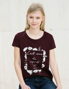 T-shirt BSK imprimé texte - Tee-shirts - Bershka France
