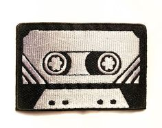 Retro Cassette / Iron-on Patches / Black & White / Old School / Appliqué / Embroidery