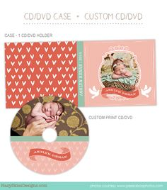 CD Label + CD Case Photoshop Template for Photographers   #CD #DVD #Template…