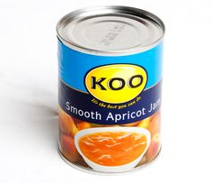 Koo smooth apricot jam - what I'd give for a tin of this! African Love, Brand Icon, Fanta Can, South African Recipes, Heritage Brands, West Africa, Cape Town, Wine Recipes, Childhood Memories