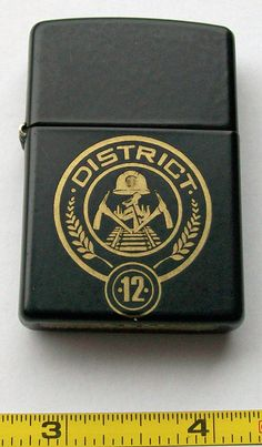Black Zippo Lighter Personalized with Any font, Graphic, Photo or Logo - Hunger Games Inspired