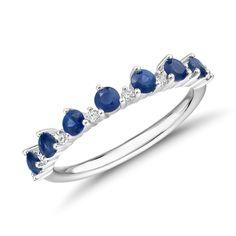 Sapphire Gemstone, Sapphire Diamond, Blue Sapphire, White Gold Diamonds, Round Diamonds, Diamond Tiara, Diamond Stacking Rings, Royal Blue Color, Sapphire Wedding