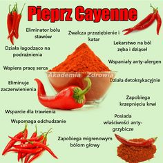 Właściwości zdrowotne pieprzu cayenne - Zdrowe poradniki New Recipes, Healthy Recipes, Juice Plus, Nutrition, Natural Medicine, Diy Food, Herbalism, Food And Drink, Health Fitness