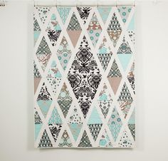 Love the fabric. Birch Farm by Joel Dewberry. Diamond Quilt Patterns to Dazzle