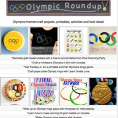 20 diy Olympic themed craft tutorials, food ideas, activites and printables!