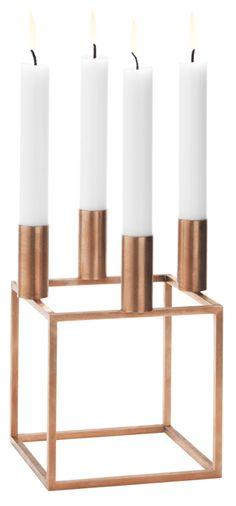Kerzenständer Kubus 4 (Kupfer) - von Mogens Lassen - By Lassen