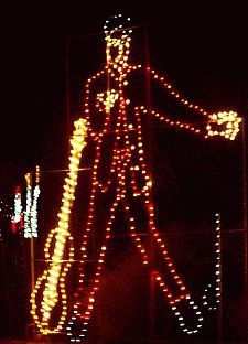 elvis christmas lights