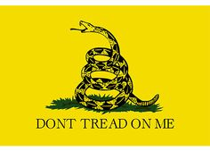 """Free+""""Don't+Tread+On+Me""""+Bumper+Sticker! We have a duty to rebel when gov becomes criminal or goes against our Creator God!"""