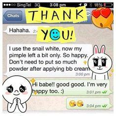 Review : Snailwhite Distributor ศนยกระจายสนคา ปลก-สง!! Line:patzypikzy_07 IG: @Snailwhite_GlobalTH รบตวแทนแบบสตอก และ ไมสตอกสนคา Dealer retail & wholesale / 泰国蜗牛霜总代理批发兼零售欢迎咨询 มสตอกสนคา พรอมสง 大量库存欢迎下单 http://ift.tt/1niZCfU  #snailwhite #snailwhitebynamu #snailwhitecleansing #snailwhitemaskshot #snailwhitesunscreen #snailwhitesynakemist #snailwhitebodybooter #namulife #namu #serum #whitemeup #whitemeupsleepingpack #whitemeupตนปบใสปบ #snailwhitecleansing  #snailwhiteglobal #shippingworldwide…