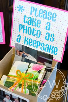 Keepsake first birthday!