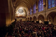I have been to the Festival of Lessons and Carols at All Saints' Chapel at Sewanee in Tennessee one Christmas.