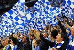 Blue is the colour, football is the game.  We're all together and winning is our aim.  So cheer us on through the sun and rain.  Cos Chelsea, Chelsea is our name!