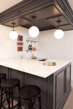 Basement Kitchen Ideas (Small Basement Kitchen and Bar Design) Small Basement Kitchen, Basement Bar Plans, Basement Bar Designs, Basement Ideas, Rustic Basement, Basement Bars, Basement Renovations, Kitchen Bar Design, Home Decor Kitchen