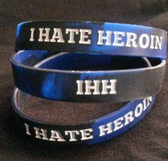 I HATE HEROIN BRACELET