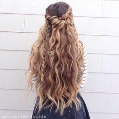 Boho braids + beachy waves #glambytoriebliss