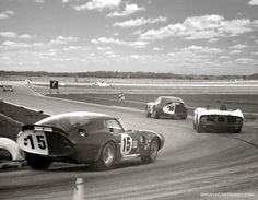 The Shelby Cobra Daytona Coupe driven by Bob Bondurant and Jo Schlesser. The car finished overall and first in GT The Shelby Cobra Daytona Coupe of Lew Spencer, Jim Adams and Phil Hill finished The Ferrari of Pedro Rodrigue Sports Car Racing, Road Racing, Sport Cars, Auto Racing, Racing Team, Ac Cobra, King Cobra, Us Cars, Race Cars