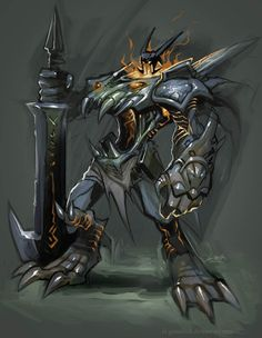 Warrior Daemon by el-grimlock.deviantart.com on @deviantART
