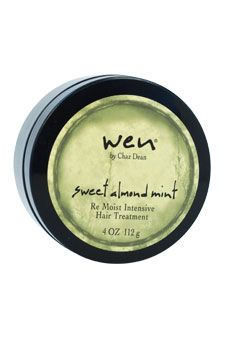 Wen Sweet Almond Mint Re Moist Intensive Hair Treatment is an intensely nourishing weekly mask designed to give your hair more body and a beautiful, healthy shine.'