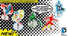 We have tons of super hero cufflinks, pins,tie bars and money clips. Batman, Superman, Wonder Woman..no problem.  #cufflinksdepot #mensfashion #geek #geekchic #menswear #fashion #clothes #accessories #suit #suitup